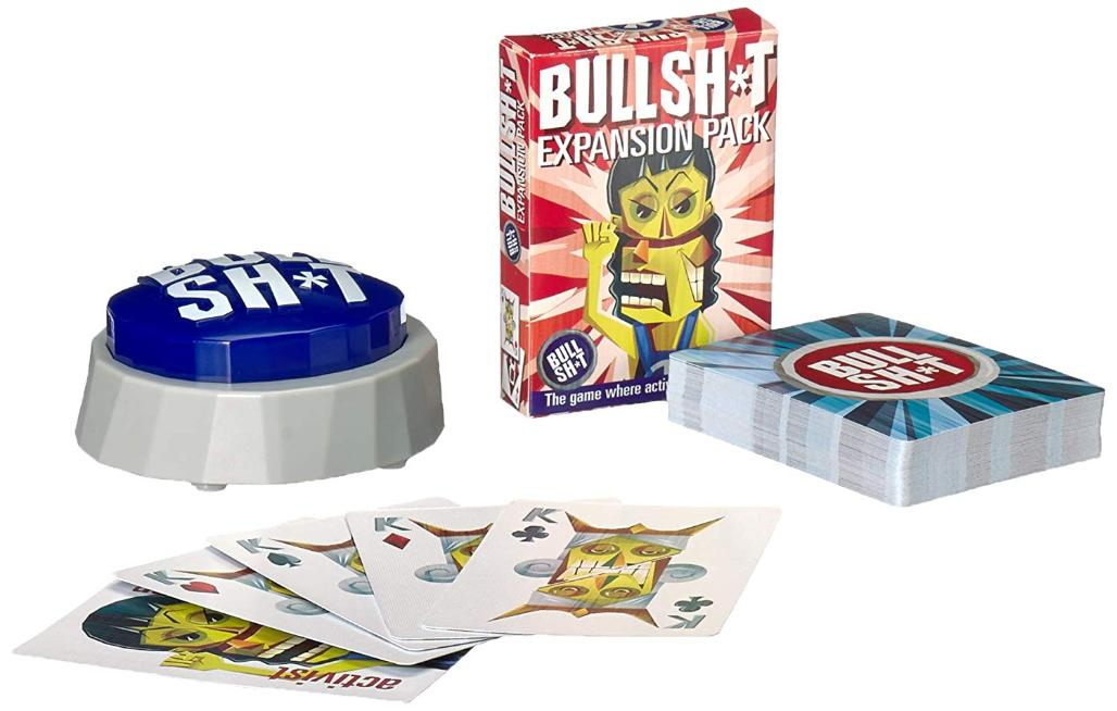 bs button game expansion pack, bs button game, bs button, bullshit button, card game, activist, game night